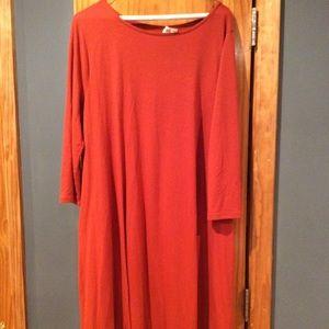 Burnt Orange Swing Dress